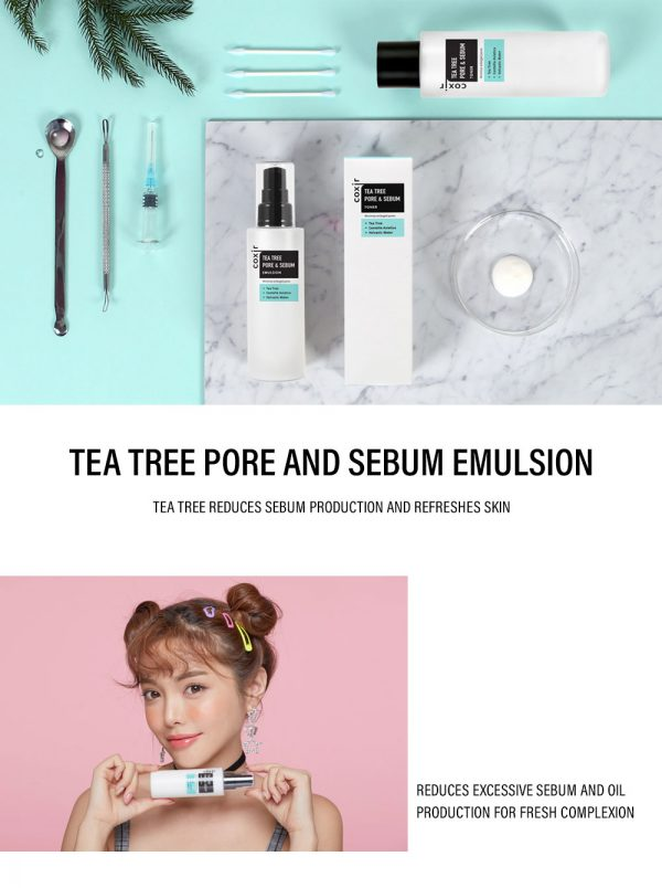 Coxir Tea Tree Pore & Sebum Emulsion 4